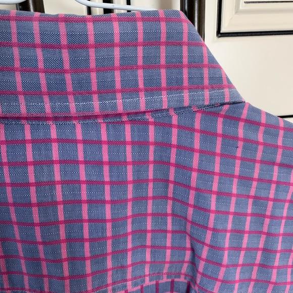 Hugo Boss Shirt 43/17 Blue Pink Slim Fit